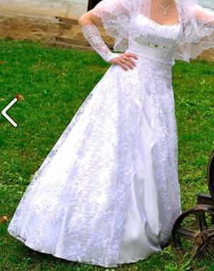 Svad. šaty so závojom a doplnkami - veľkosť 34až38, 36