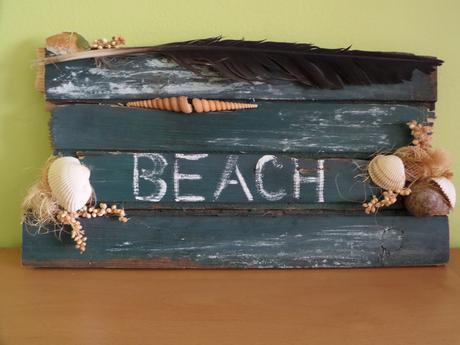 mořská cedulka s nápisem na přání,