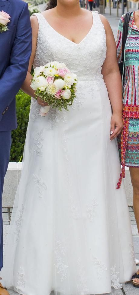 Svadobné šaty veľkosť 48, 48