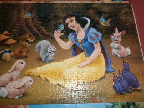 puzzle Snehulienka a 3 prasiatka,