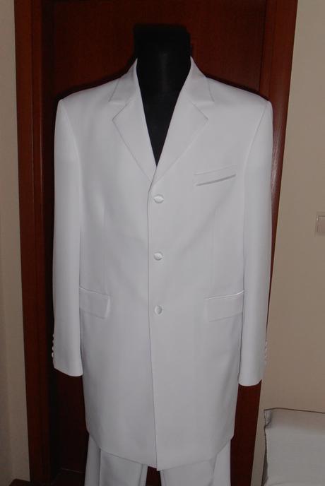 Snehovobielý svadobný oblek zn. Jamel Fashion, 52