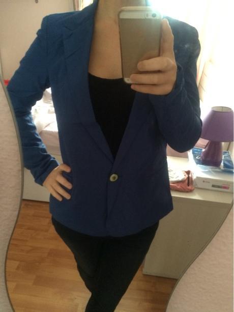 Modré sako, veľkosť S, 36