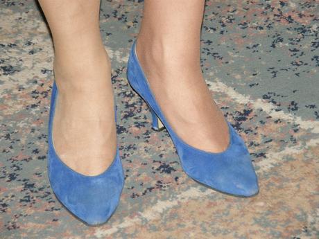 Semišové modré lodičky, 37