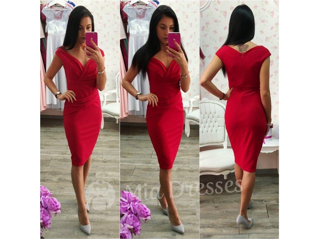 Červené šaty krátke 851953dc648