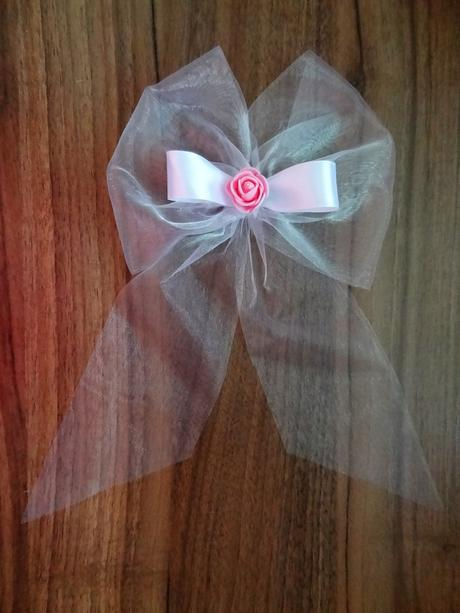 Mašle na kliky s růžičkou-barva na přání,