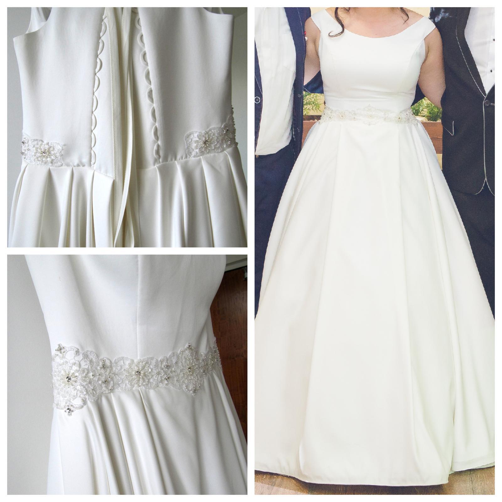 cd0b9b0561ae Jednoduché saténové svadobné šaty