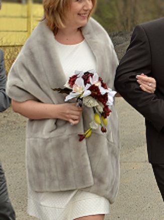 Svatební kytice umělá,