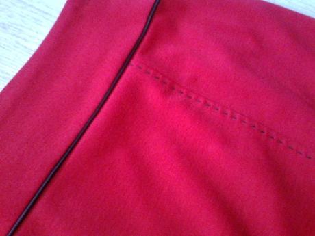 Červená sukňa vel. 46, 46