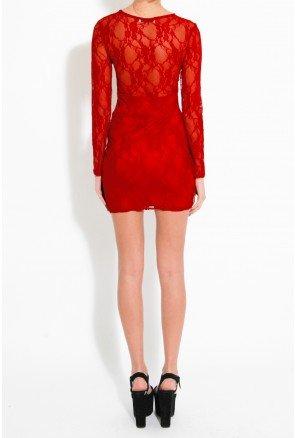 Čipkované šaty RARE LONDON dlhý rukáv v. M/L, M