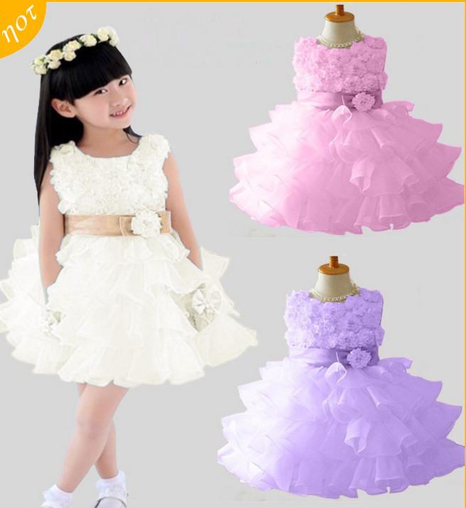 05e7a1ebcd6 Dětské svatební šaty na výběr 3 barvy