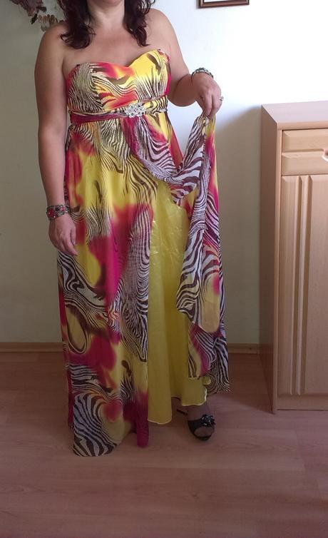 Nepoužité elegantné spoločenské šaty, 46
