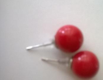 Červené naušničky - nenosene,