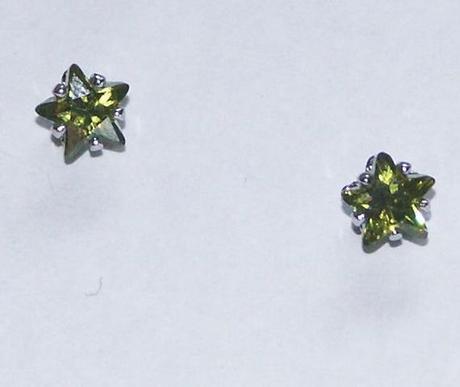 Hviezdicky, priemer 5mm, pozlate 18k zlatom,