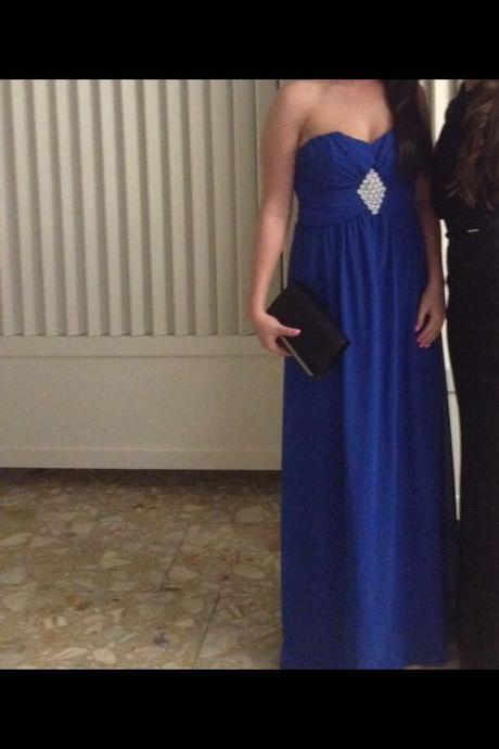 dlhé modré šaty, 36