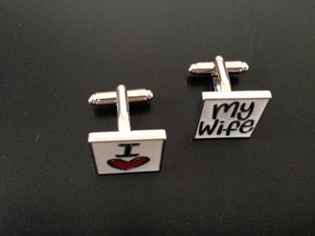 manžetové gombíky I love my wife,