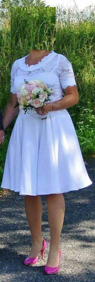 krátke svadobné šaty, 36