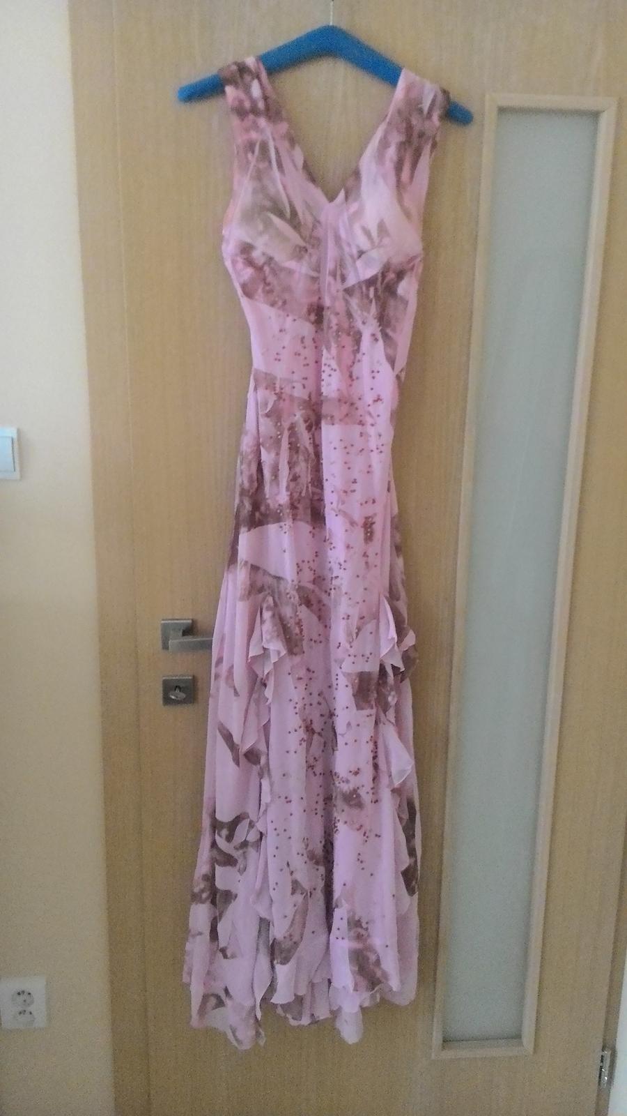 Dlhé ružovo-hnedé šaty d0339b092e1