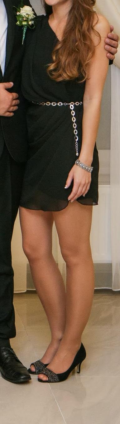 krátke čierne šaty, XS