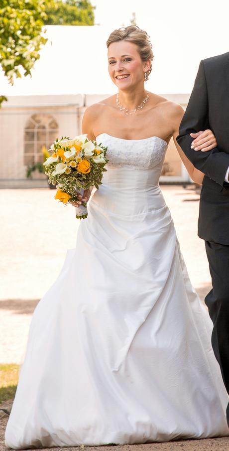 Korzetové svatební šaty 38-42 champagne, 39