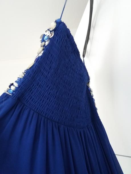 Spoločenské šaty v kráľovskej modrej farbe, 38