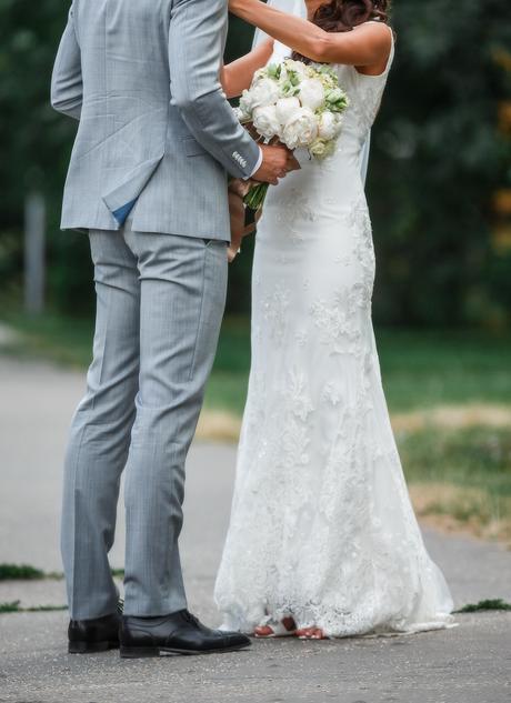 elegantne svadobne saty s miernou vleckou, 36