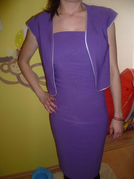 puzdrové šaty s bolerkom, M