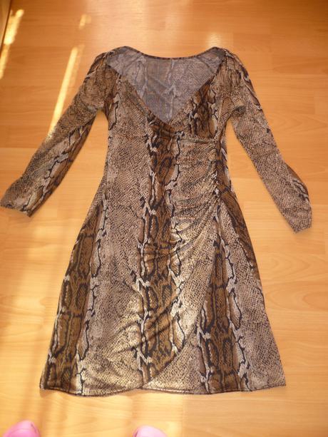 šaty - hadí vzor, M
