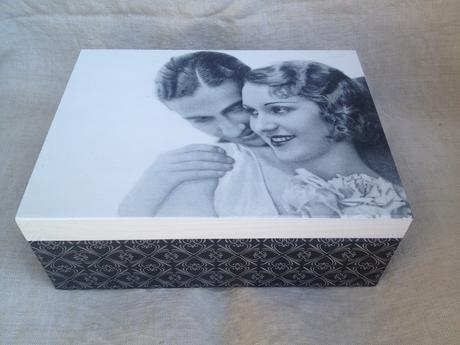 Drevená krabica-Nostalgia,