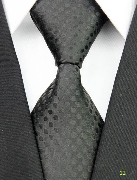 Černobílé kravaty - různé druhy,
