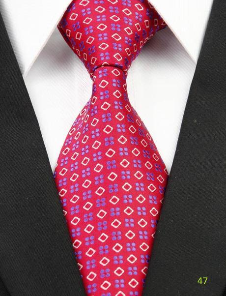 Červené kravaty - různé druhy,