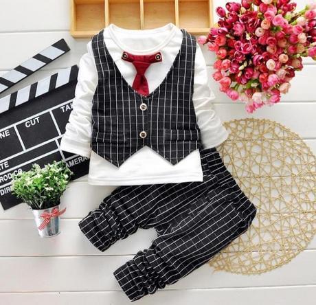 Dětský oblek s vestičkou, 86