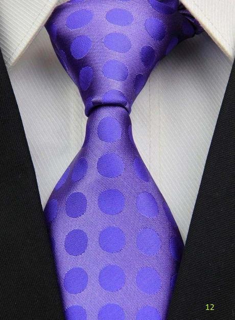 Fialové kravaty - různé druhy,