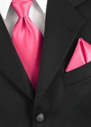 Fuchsiová kravata - skladem,