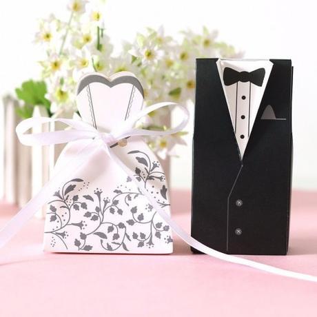 Krabičky - nevěsta a ženich,