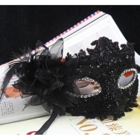 Maska na svatební focení s kytkou,
