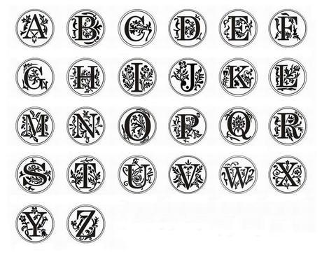 Pečetidlo - písmeno,