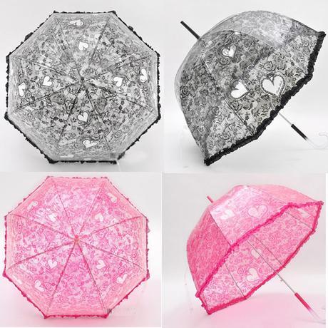 Průhledný deštník,