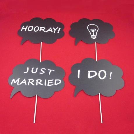 Rekvizity na svatební focení - skladem,