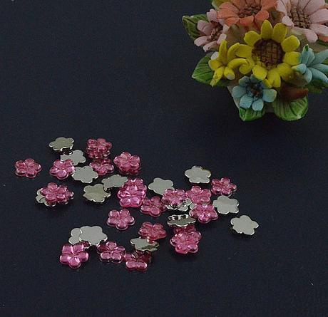 Růžové kytičky - skladem,