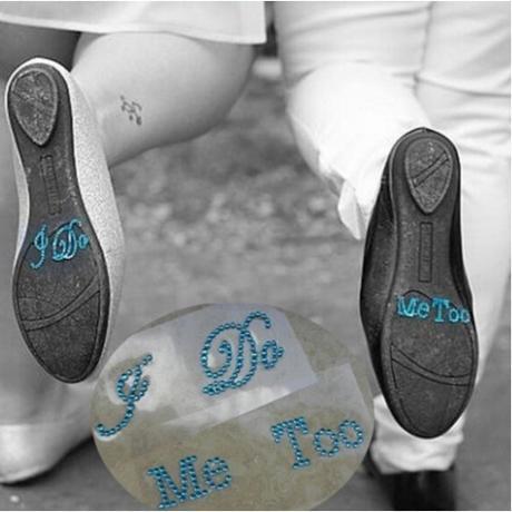 Samolepky na boty pro nevěstu a ženicha 9fdfc37335