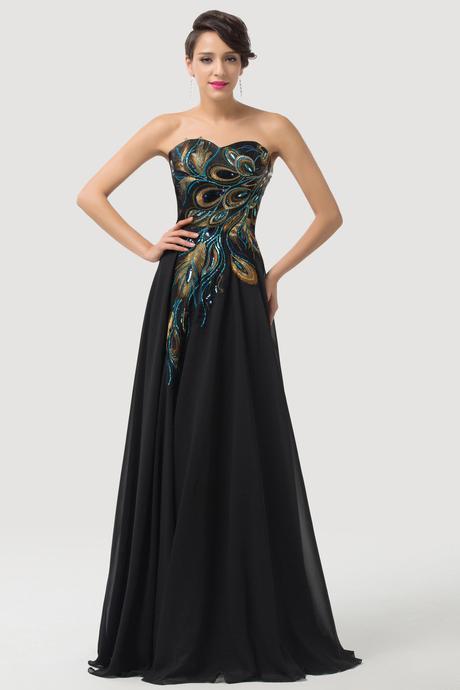 Šaty s motivem pavích per, 36