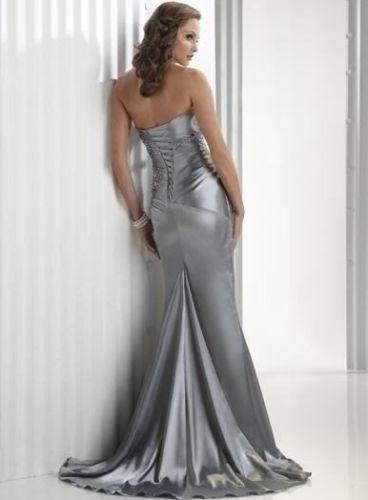 Stříbrné společenské šaty - skladem, 38