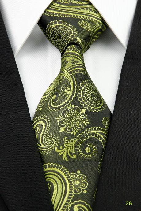 Zelené kravatyy - různé druhy,