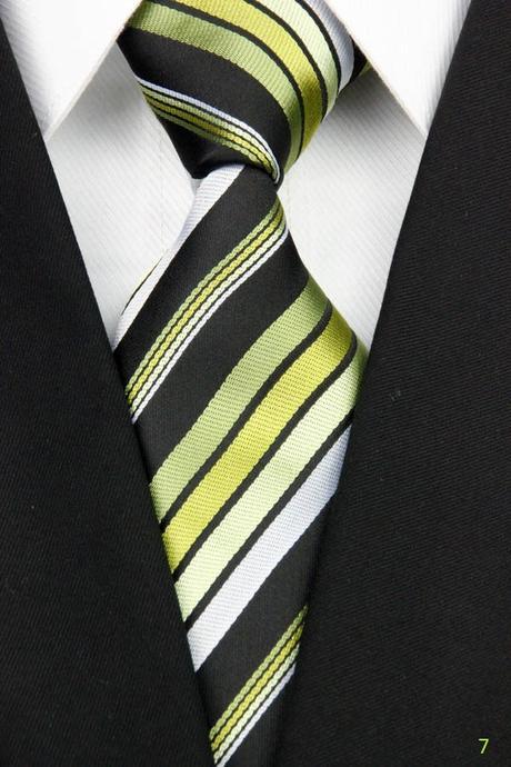 Žluté kravaty - různé druhy,