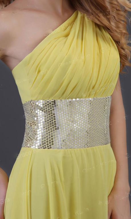Žluté šaty - na objednávku, 38
