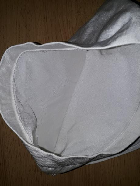 stahovací bílé kalhotky, L