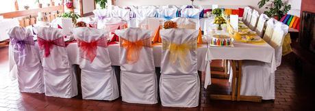 Dekorace pro duhovou svatbu,