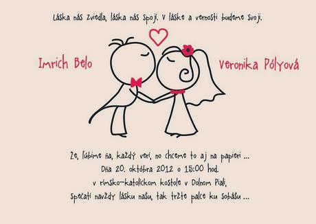 Originální svatební oznámení,