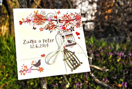 Vintage svatební oznámení,
