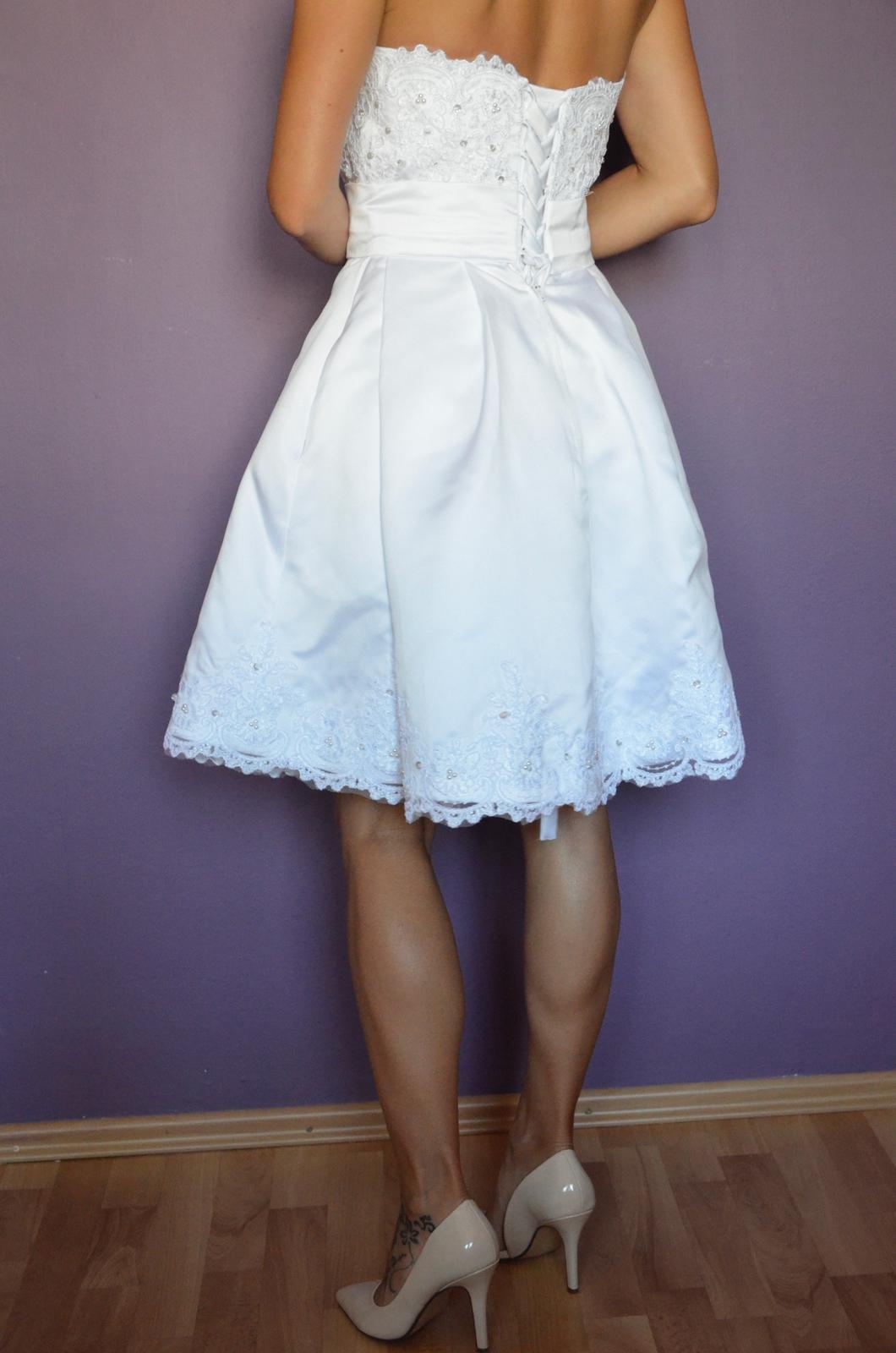 beb36639d84c Krátke svadobné šaty - velkosť 34-36-38